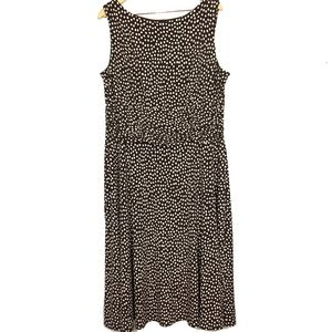 Perceptions 20W polka dot midi tea dress